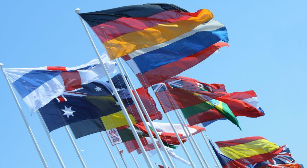 Fahnen als Nationalfahnen